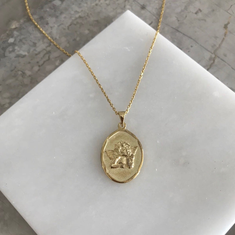 ADRIANA ANGEL MEDALLION NECKLACE