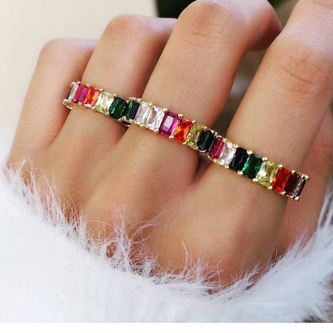 FEBE RAINBOW ETERNITY BAND
