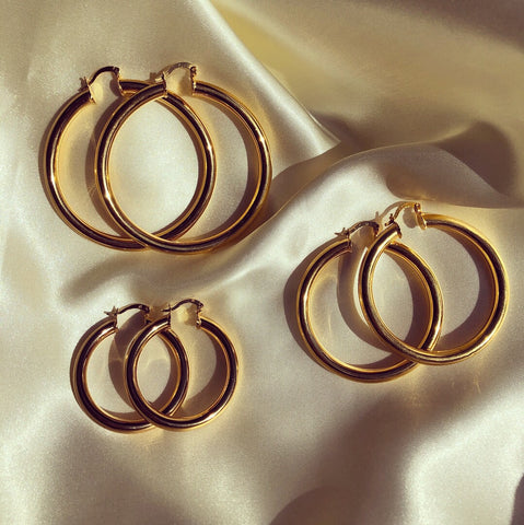 GOLD HOOP TRIO SET
