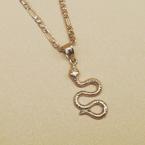 14K EVE SNAKE NECKLACE