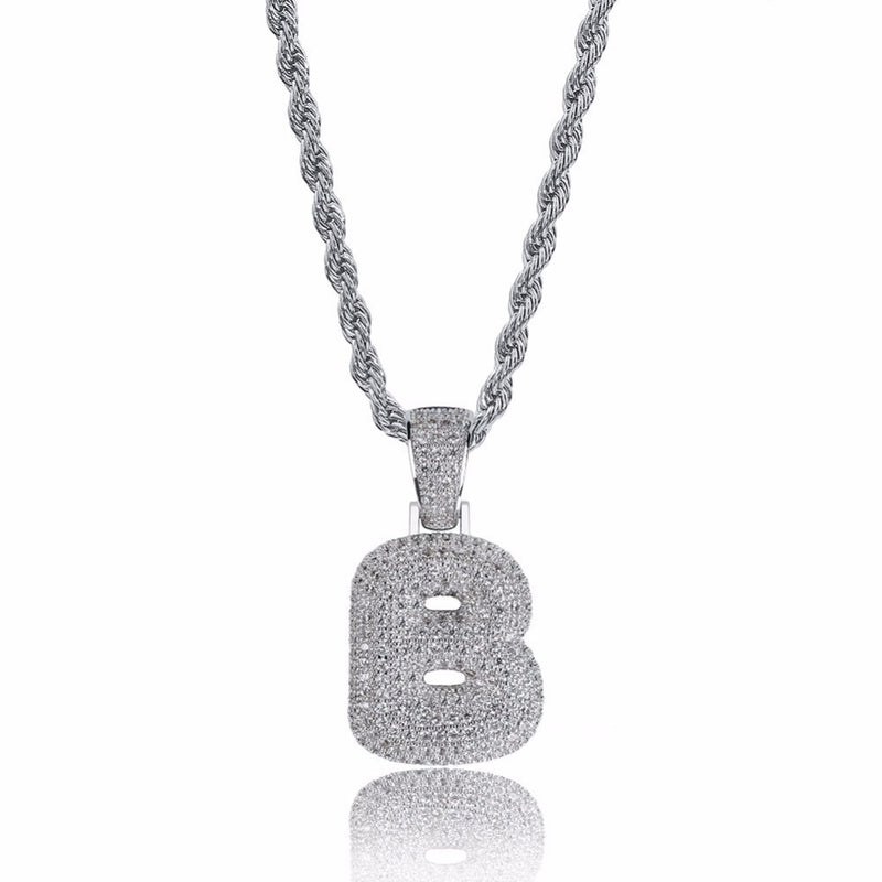 KELLY CUBIC ZIRCONIA INITIAL NECKLACE