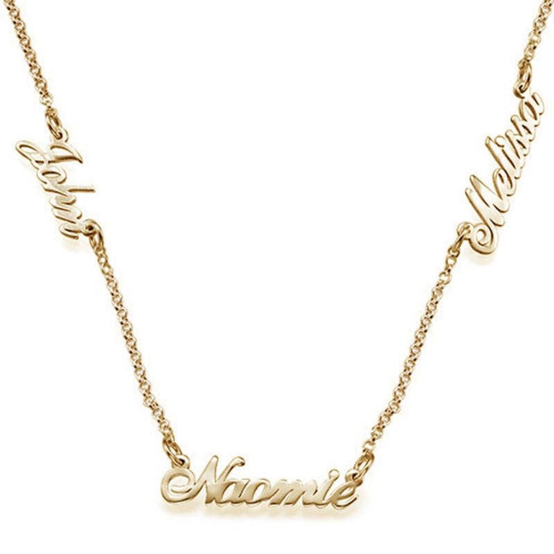 TALIA MULTI NAME SCRIPT NECKLACE
