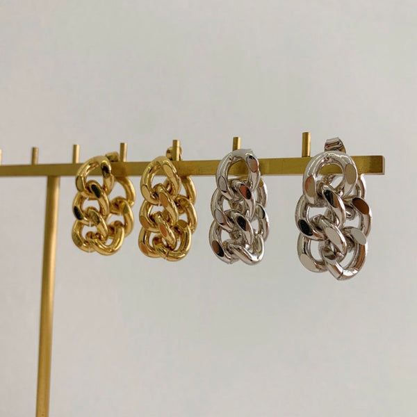 BIANCA CUBAN LINK EARRINGS