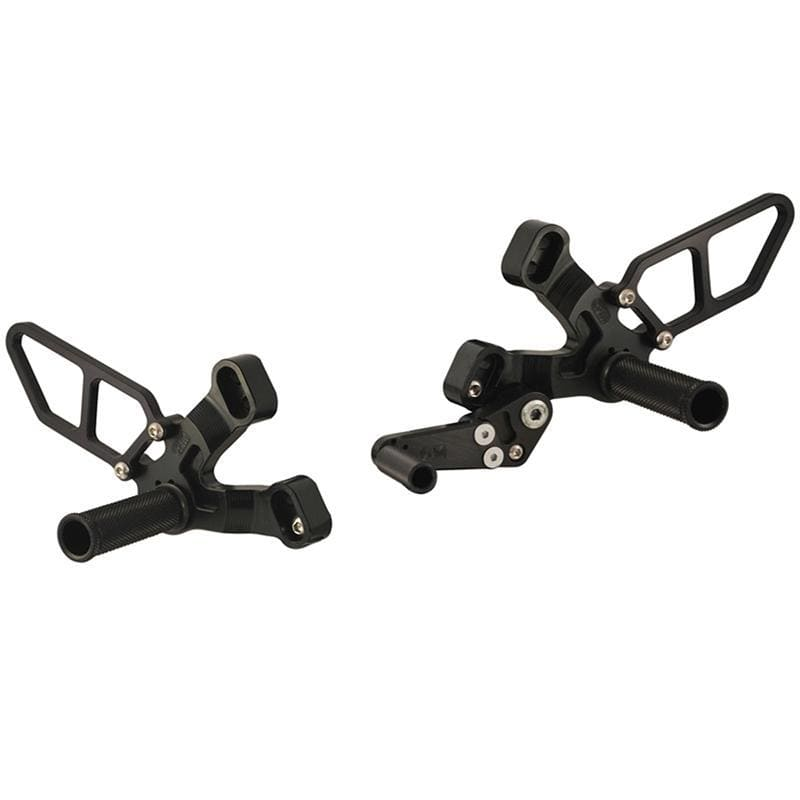 05-0640 Ducati 848/1098/1198/848 EVO Rearset BLK - Woodcraft Technologies - Motorcycle Parts