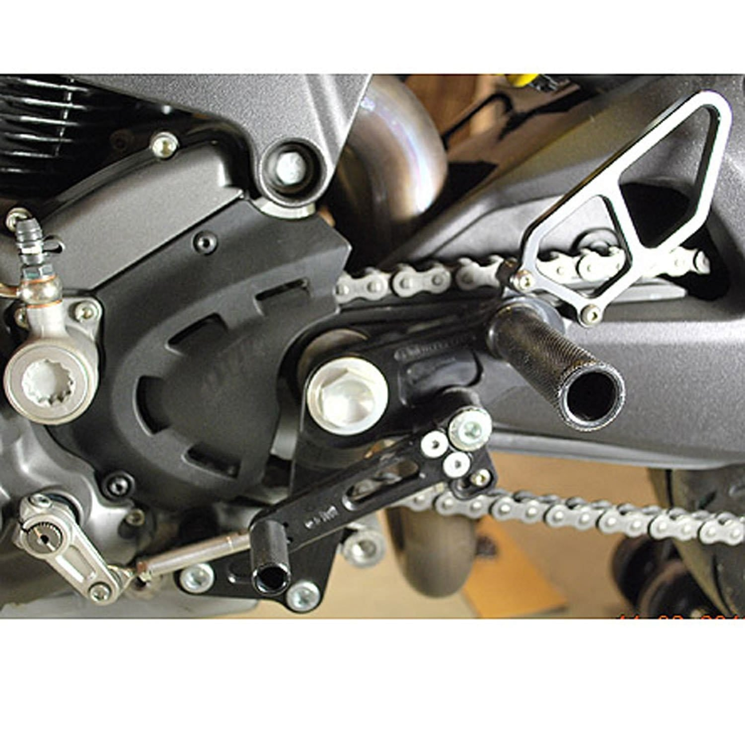 05-0660B Ducati Monster 696/796/1100 Complete Rearset - Woodcraft Technologies - Motorcycle Parts