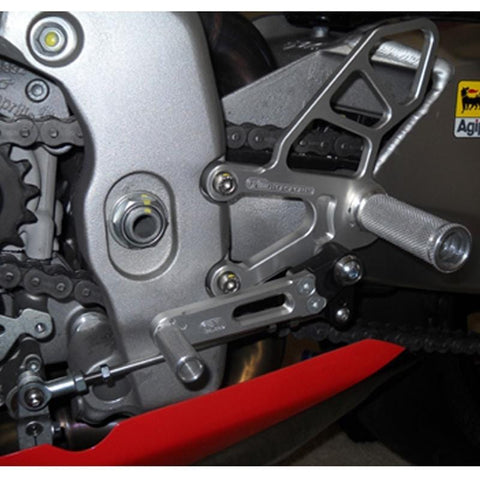 05-0742B Aprilia RSV4 APRC/Tuono V4 2011-16 STD Shift Complete Rearset - Woodcraft Technologies - Motorcycle Parts