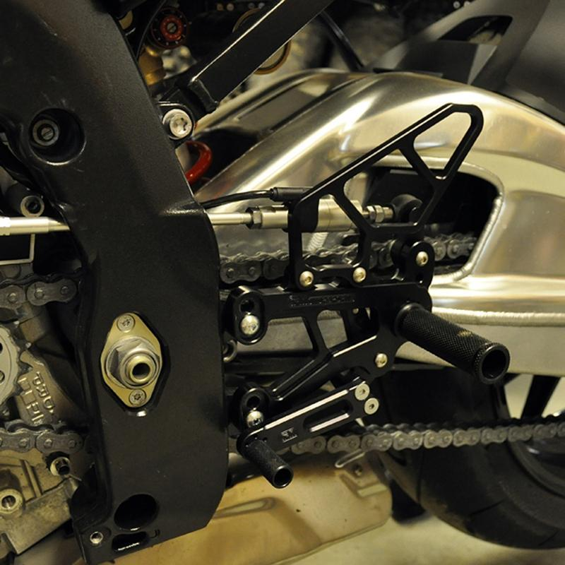 05-0751B BMW S1000RR GP Shift Complete Rearset - Woodcraft Technologies - Motorcycle Parts