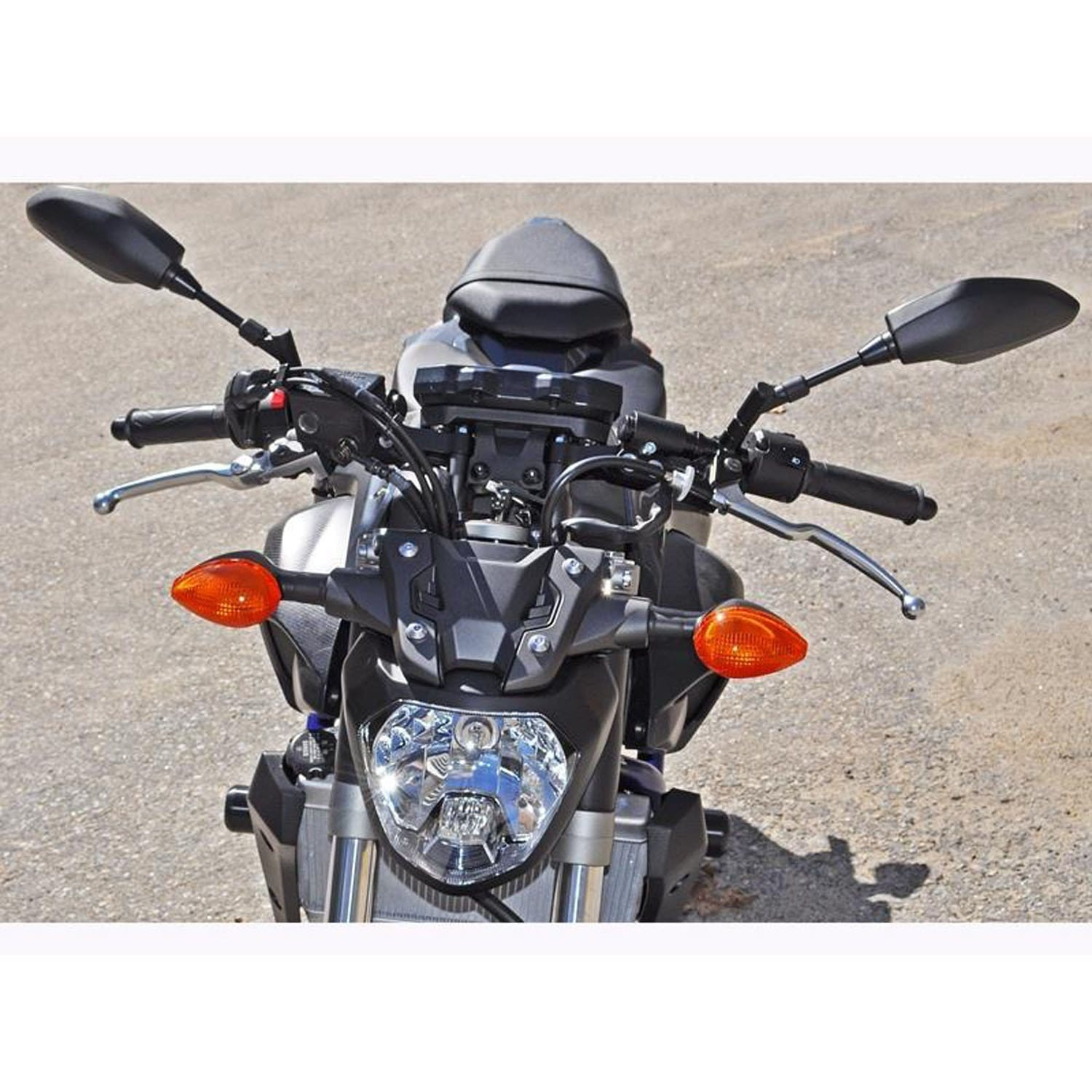Clipon Adapter Plate w/ Std. Black Bars Yamaha FZ-07 2015-17, MT-07 2018-20