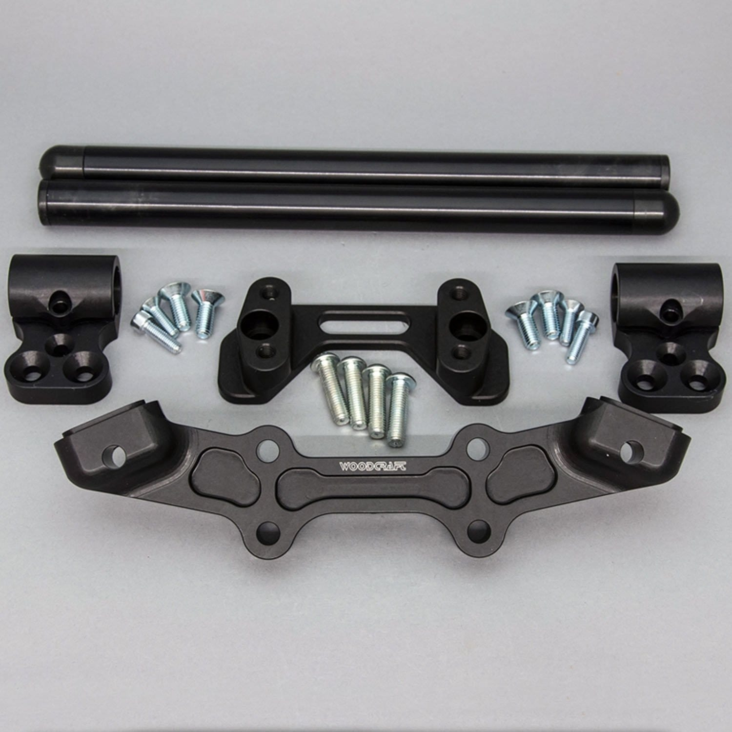 Clipon Adapter Plate w/ Std. Black Bars Ducati Monster 1200
