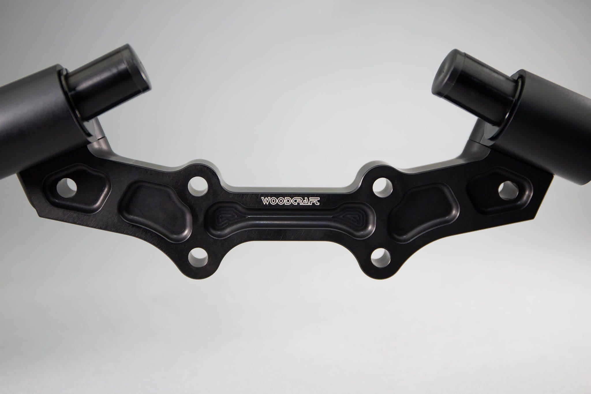 Yamaha FZ07 MT07 Front Mount 35mm Eccentric Adjustable Adapter Plate Assembly - Woodcraft Technologies - Motorcycle Parts