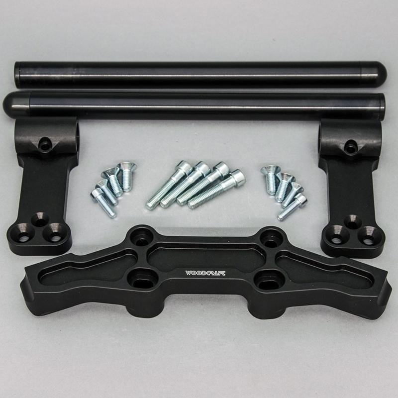 Clipon Adapter Plate w/ Std. Black Bars Kawasaki NINJA 650 2006-2016, ER6N 2009-2011