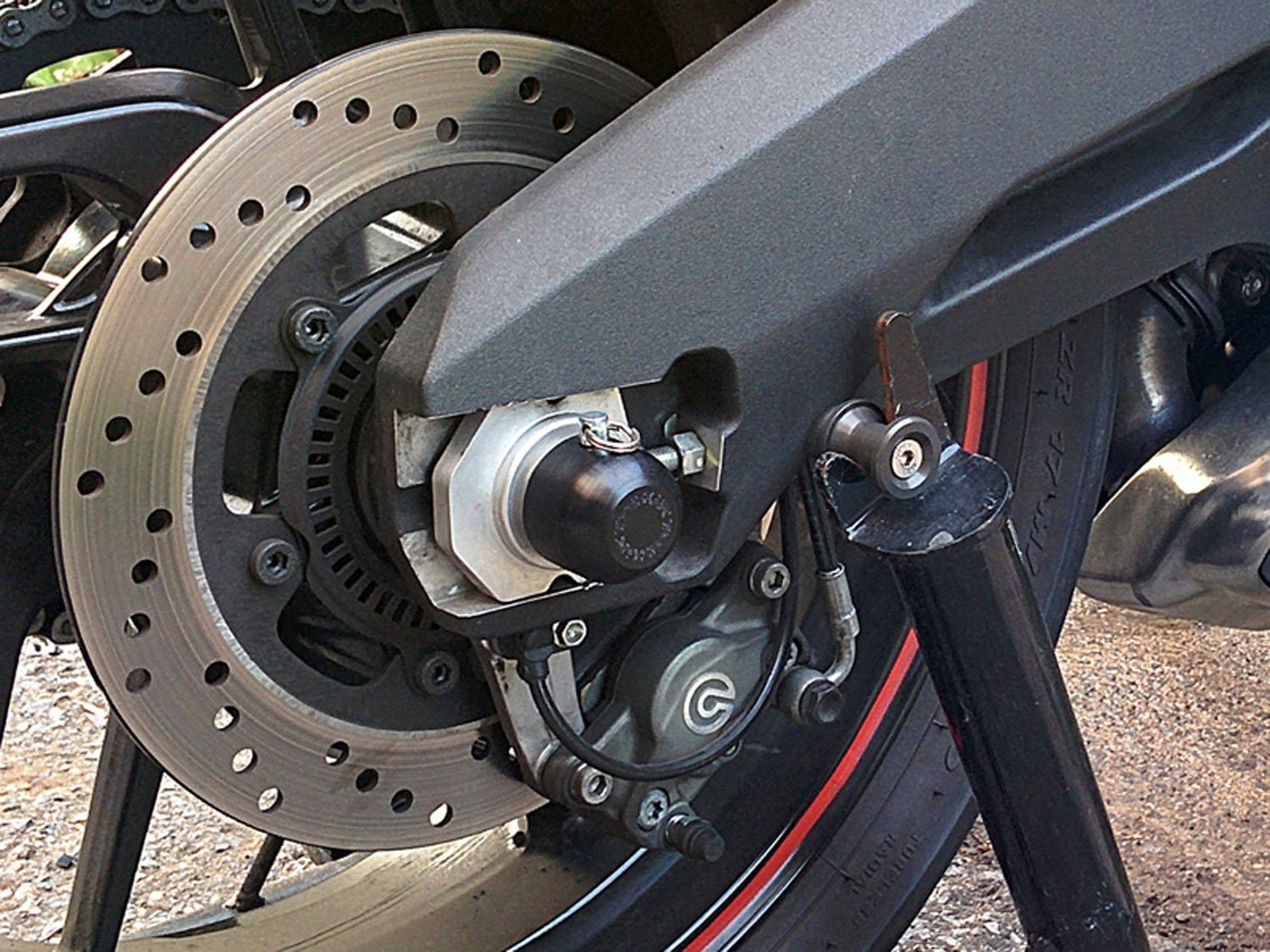 45-0649R Ducati 899 '14-17, 821 Monster Rear Axle Slider Kit Assembly - Woodcraft Technologies - Motorcycle Parts
