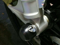 45-0750F BMW S1000RR '09-'19, S1000R '14-19 Front Axle Slider Kit - Woodcraft Technologies - Motorcycle Parts