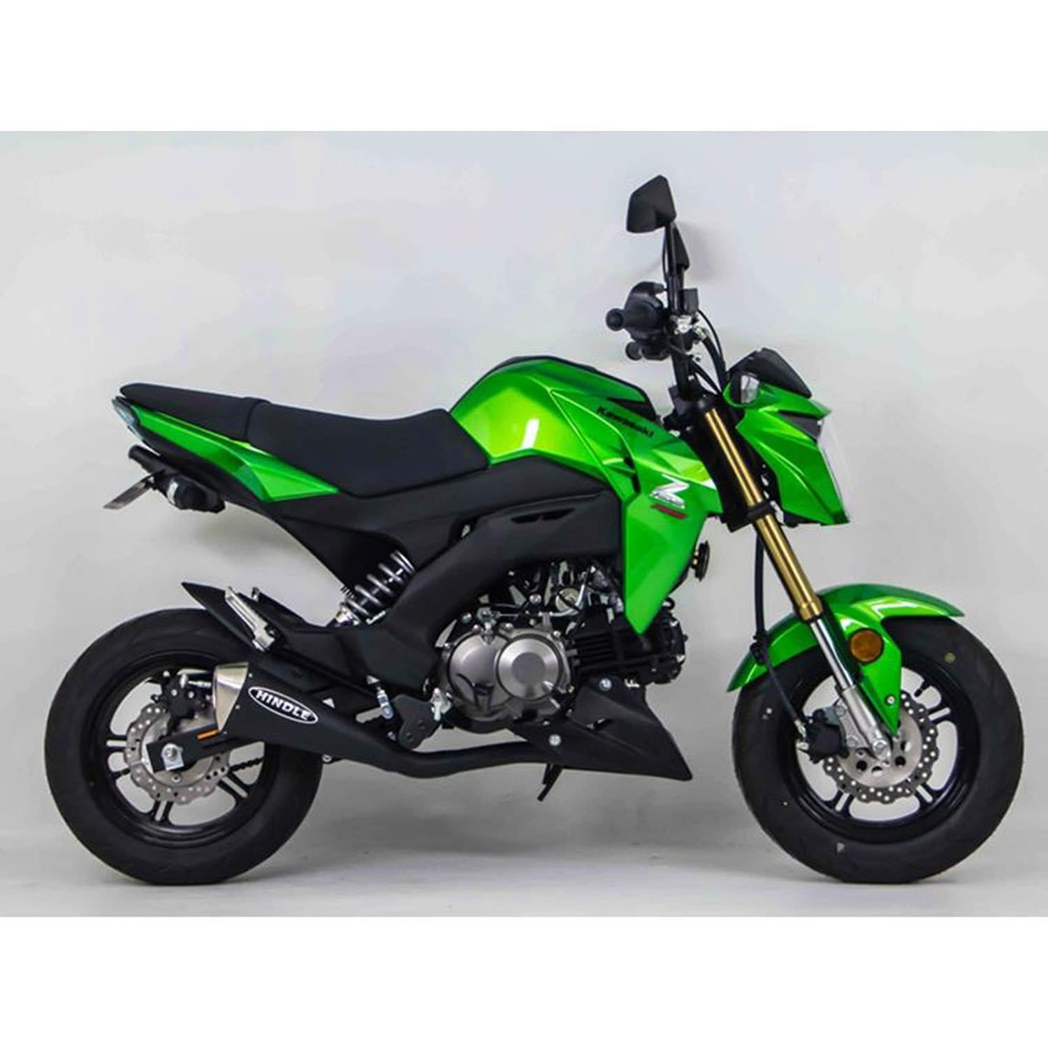 Hindle Evo Megaphone Full System Kawasaki Z125 2017-20 - Louden Clear Designs