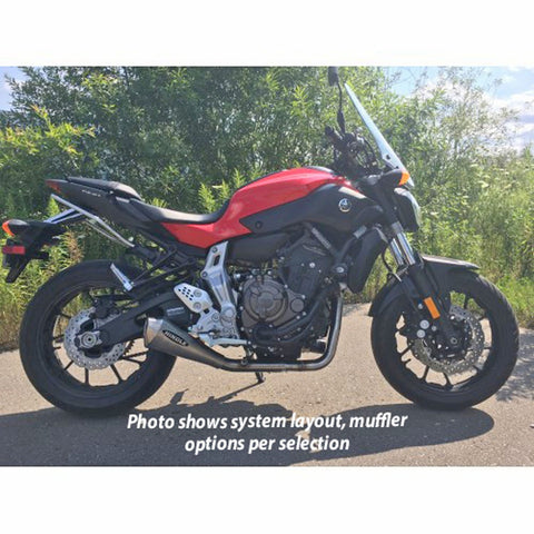 Hindle Evolution Megaphone Full System Yamaha FZ07, MT-07, XSR700 2015-20