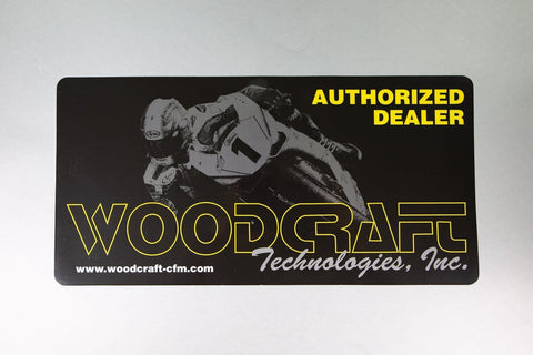 inAuthorized Woodcraft Dealer in Static Window Cling w/mounting directions & prep wipe - Woodcraft Technologies - Motorcycle Parts