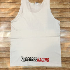 64 Degree Racing Men's White Tank Top