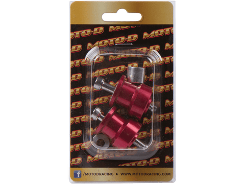 MOTO-D Swingarm Spools (8mm) - Red