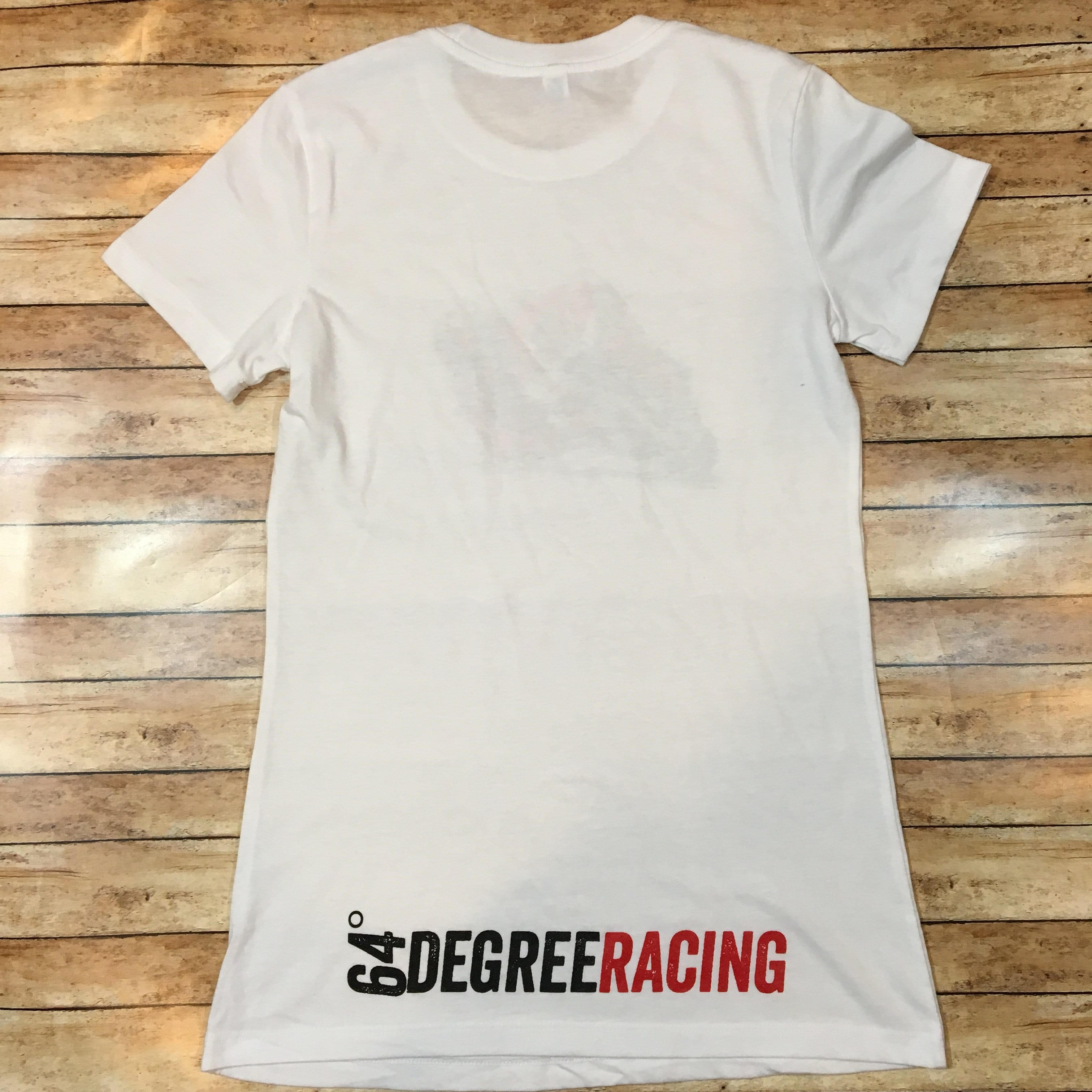 64 Degree Racing Women's Short Sleeve White T-Shirt