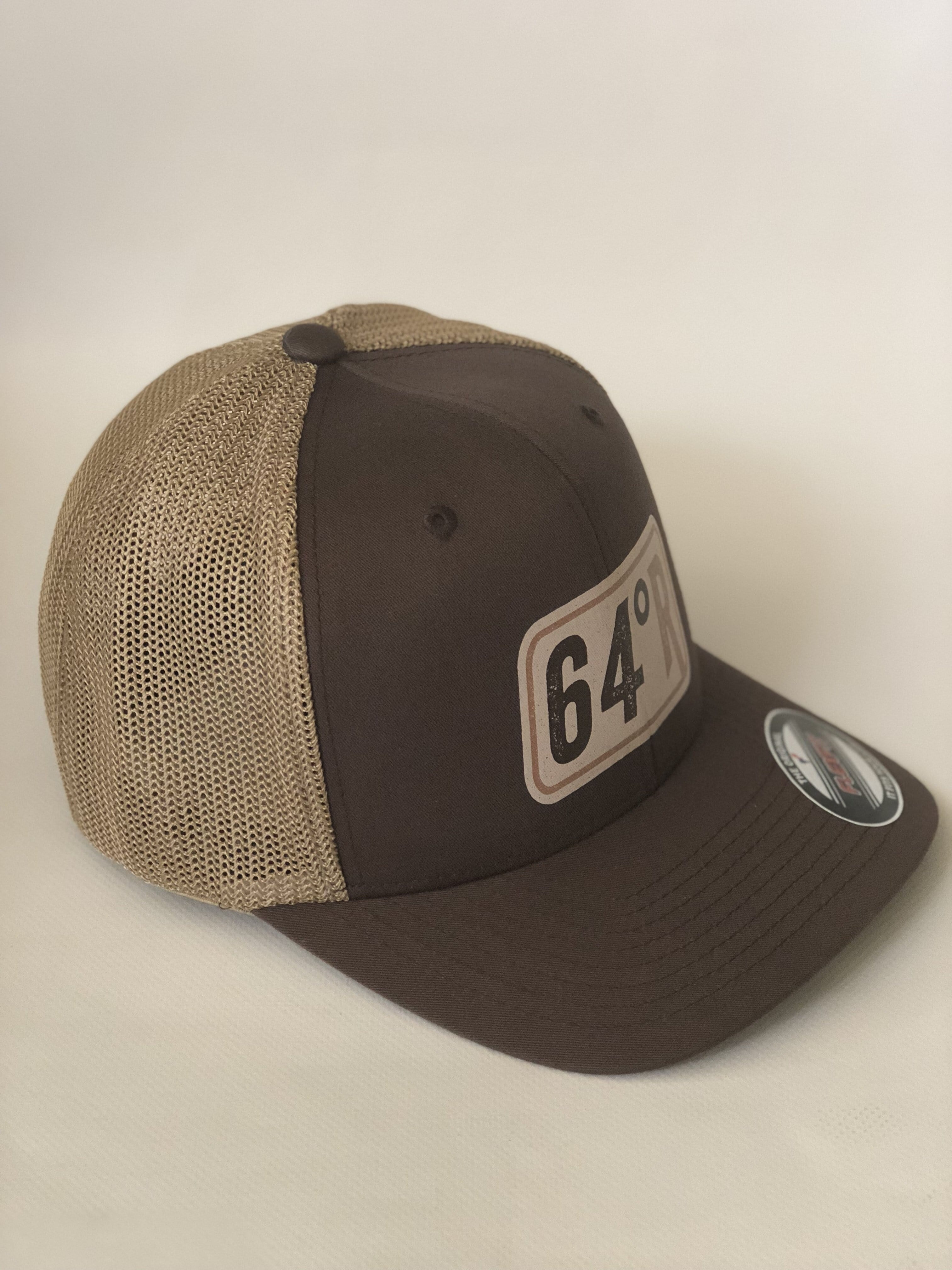 64 Degree Racing Retro One Size Logo trucker hat