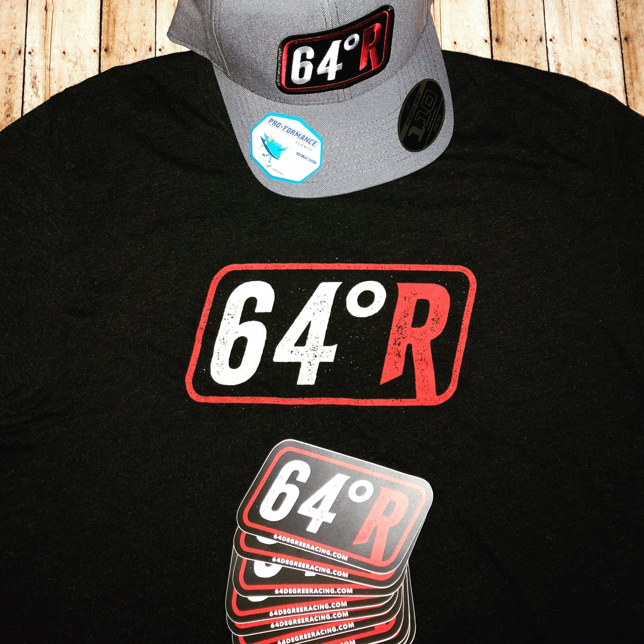 "64 Degree Racing 5"" Racing decal"