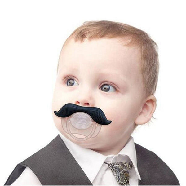 Baby Poirot Novelty Moustache Dummy