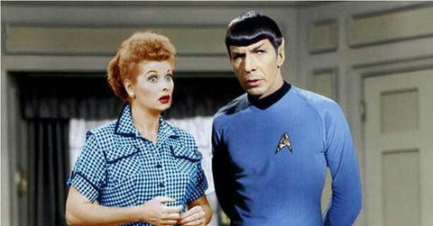 Lucille Ball and Spock Star Trek Composition