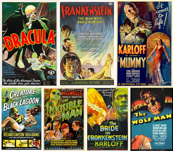 classic universal monster movie posters