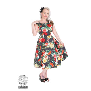 H&R London Tiki Swing dress-Swing Dress-Glitz Glam and Rebellion GGR Pinup, Retro, and Rockabilly Fashions
