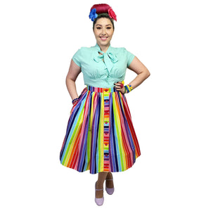 Hell Bunny Over The Rainbow Skirt-Skirts-Glitz Glam and Rebellion GGR Pinup, Retro, and Rockabilly Fashions