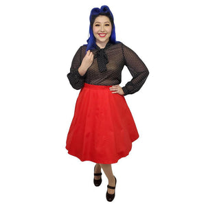 Hemet Full Circle Skirt in Red-Skirts-Glitz Glam and Rebellion GGR Pinup, Retro, and Rockabilly Fashions