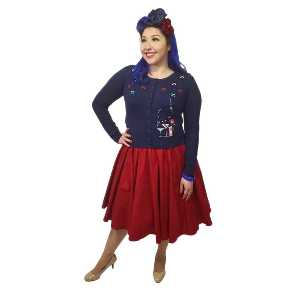 Pinup Skirt in Red - SPECIAL!-Skirts-Glitz Glam and Rebellion GGR Pinup, Retro, and Rockabilly Fashions