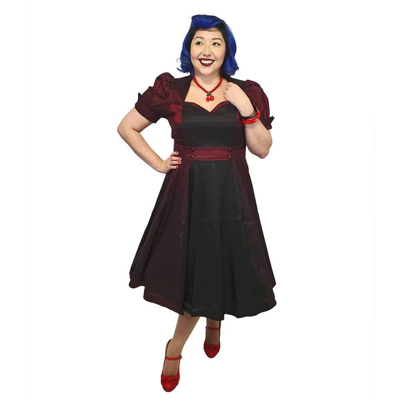 GGR Nights in Satin Opera Dress - SPECIAL!-Dress-Glitz Glam and Rebellion GGR Pinup, Retro, and Rockabilly Fashions