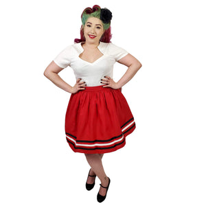 Steady Clothing High Tide Skirt in Red-Skirts-Glitz Glam and Rebellion GGR Pinup, Retro, and Rockabilly Fashions