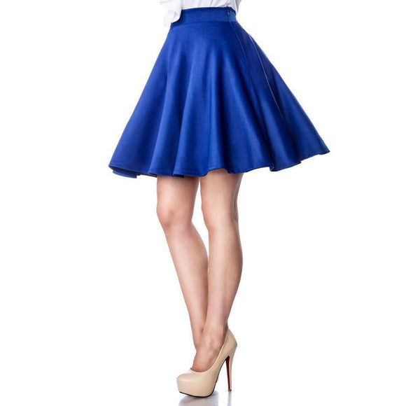 Belsira Blue Circle Skirt-Skirts-Glitz Glam and Rebellion GGR Pinup, Retro, and Rockabilly Fashions