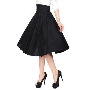 Pinup Skirt in Black - SPECIAL!-Skirts-Glitz Glam and Rebellion GGR Pinup, Retro, and Rockabilly Fashions