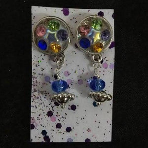 Aye Que Chula Multicolored Star Earrings-Earrings-Glitz Glam and Rebellion GGR Pinup, Retro, and Rockabilly Fashions
