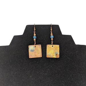 Aye Que Chula Bronze Square Earrings-Aye Que Chula-Glitz Glam and Rebellion GGR Pinup, Retro, and Rockabilly Fashions