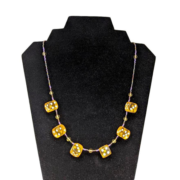 Aye Que Chula Sunshine Dice Necklace-Aye Que Chula-Glitz Glam and Rebellion GGR Pinup, Retro, and Rockabilly Fashions