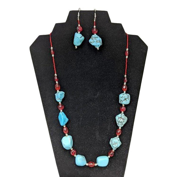 Aye Que Chula Turquoise Jewelry Set-Aye Que Chula-Glitz Glam and Rebellion GGR Pinup, Retro, and Rockabilly Fashions