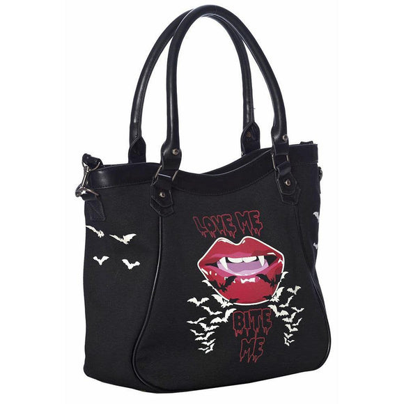 Banned Bite Me Bag-Purses-Glitz Glam and Rebellion GGR Pinup, Retro, and Rockabilly Fashions