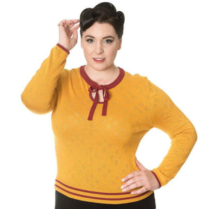 Banned First Love Knit Top-Cardigan-Glitz Glam and Rebellion GGR Pinup, Retro, and Rockabilly Fashions