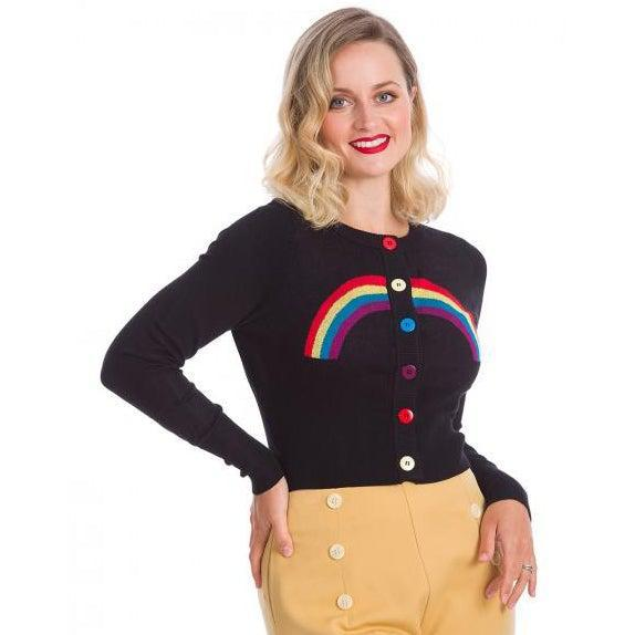 Banned Rainbow Days Cardigan-Cardigan-Glitz Glam and Rebellion GGR Pinup, Retro, and Rockabilly Fashions