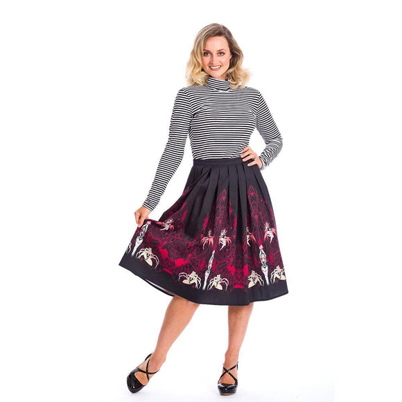 Banned Vixens Circle Skirt-Skirts-Glitz Glam and Rebellion GGR Pinup, Retro, and Rockabilly Fashions