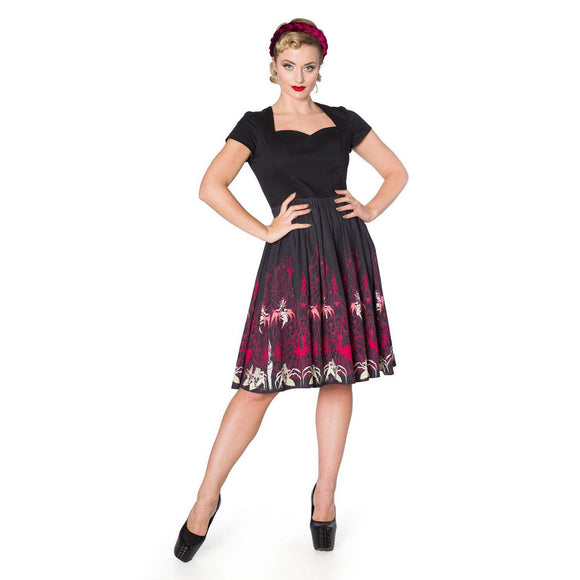 Banned Vixens Dress-Dress-Glitz Glam and Rebellion GGR Pinup, Retro, and Rockabilly Fashions