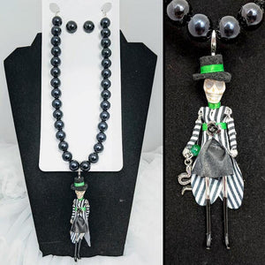 GGR Beetlejuice Necklace & Earring Set-Jewelry-Glitz Glam and Rebellion GGR Pinup, Retro, and Rockabilly Fashions