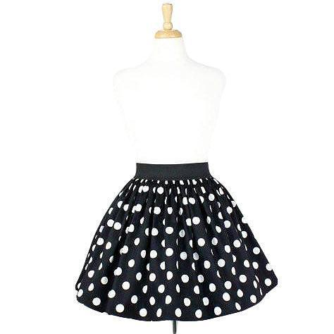Hemet Pleated Skirt in Black & White Polka Dot-Skirts-Glitz Glam and Rebellion GGR Pinup, Retro, and Rockabilly Fashions