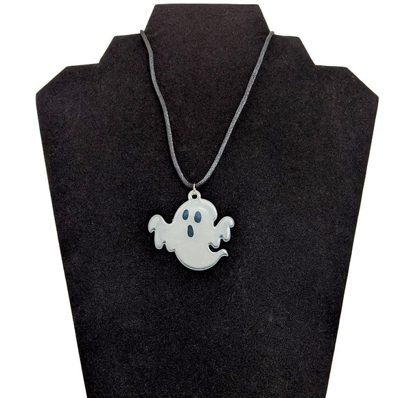 GGR Glow In The Dark Boo Necklace-Jewelry-Glitz Glam and Rebellion GGR Pinup, Retro, and Rockabilly Fashions