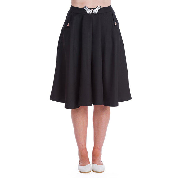 Banned Bunny Hop Skirt in Black-Skirts-Glitz Glam and Rebellion GGR Pinup, Retro, and Rockabilly Fashions