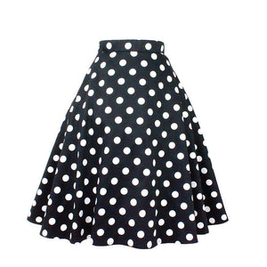 Hemet Circle Skirt in Black & White Polka Dots-Skirts-Glitz Glam and Rebellion GGR Pinup, Retro, and Rockabilly Fashions